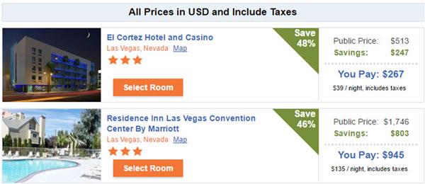 Discounted Hotels in Las Vegas